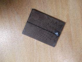 Notizbuch mit Ledereinband ( Pfauenmotiv)
