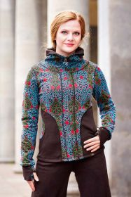 Damenjacke/ jacket aus organic Interlook-Jaquard