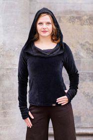 Pullover mit Kapuze, Samt