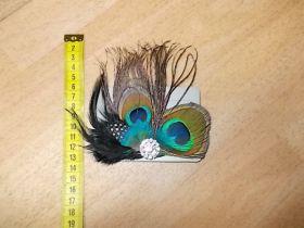 Haarschmuck Pfauenfeder